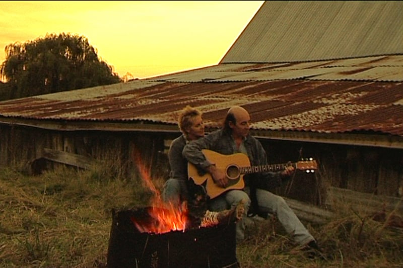 Joy (Billie Dean) and Peter (Andrew Einspruch) in a scene from Finding Joy
