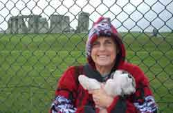 Billie Dean with Thunder at Stonehenge