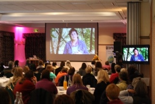 Billie Dean On Screen at Awakening to Animals with A New Era for Animals presentation